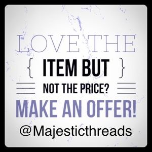 Make me an offer!  Please refer to offer chart. 🦄